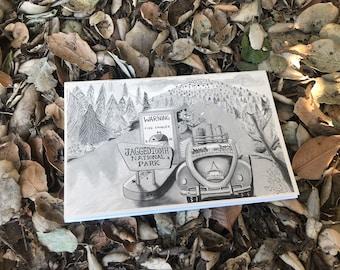 Cat Zine, Camping Cats, Illustration, Picture Book, Kids Book, Cat Art, Fun Gift, Childrens Illustration, Art, Book, Nature