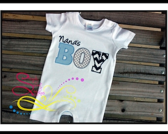 Nana's Boy Applique with Free Monogramming
