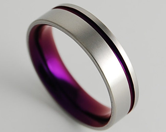 Cosmos Band with Comfort fit Interior , Titanium Ring , Wedding Band , Promise Ring