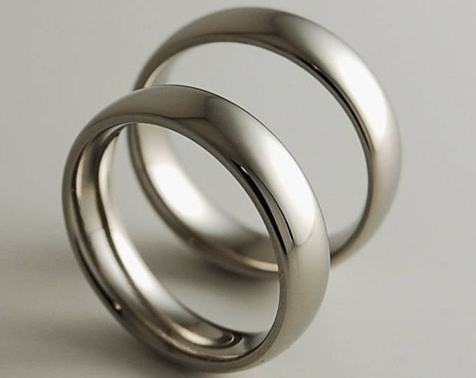 Titanium Ring Set, Wedding Band Set, Wedding Ring Set, His and Hers Ring Set, Titanium Rings, Wedding Rings, Promise Rings, Wedding Bands
