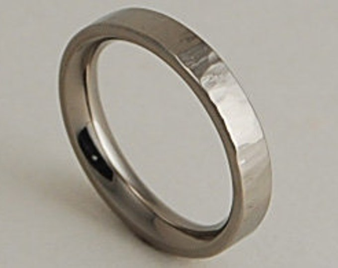 Aphrodite Band with Comfort fit interior , Titanium Ring , Wedding Band , Promise Ring