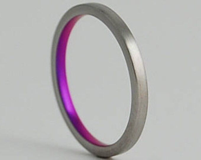 Aphrodite Band with Regular Fit Interior , Titanium Ring , Wedding Band , Promise Ring