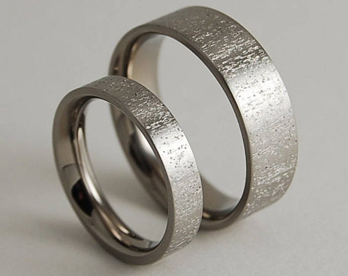 Acropolis Bands with Comfort Fit , Wedding Bands , Titanium Rings , Promise Rings