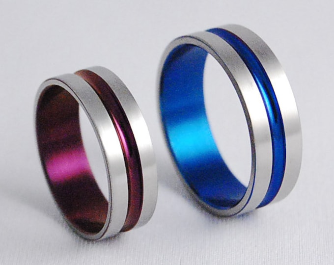Dionysus Bands , Titanium Rings , Wedding Bands , Promise Rings