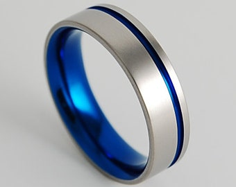 September Birthstone Ring Yellow Gold Plated Comfort Fit 2-tone Tungsten Carbide Wedding Ring TN330BS 0.07ctw Blue Sapphire Solitaire Band
