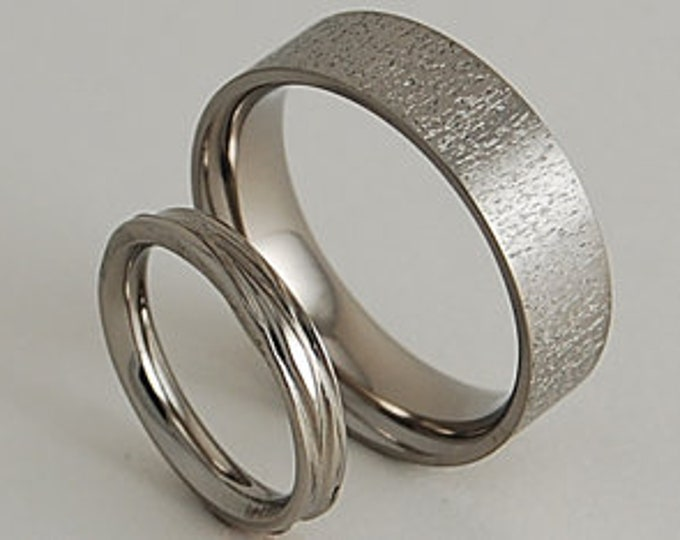 Acropolis and Sphinx Bands , Titanium Rings , Wedding Bands , Promise Rings