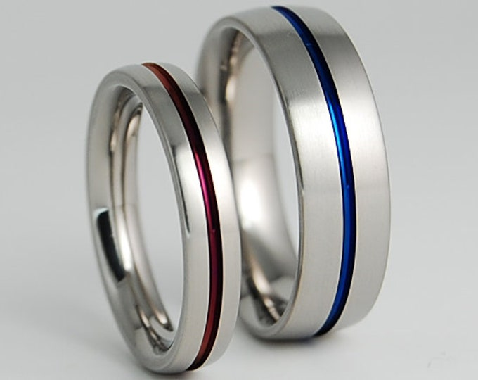 Orion Bands with Comfort Fit Interiors , Titanium Rings , Wedding Bands , Promise Rings