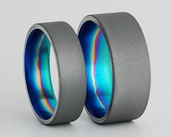 Aurora Bands , Titanium Rings , Wedding Bands , Promise Rings