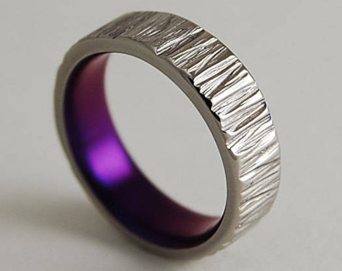 Jupiter Band in Mystic Purple , Titanium Ring , Wedding Band ,  Promise Ring