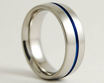 Mens Wedding Ring , Mens Titanium Ring , Mens Wedding Band , The Orion Band with Comfort Fit