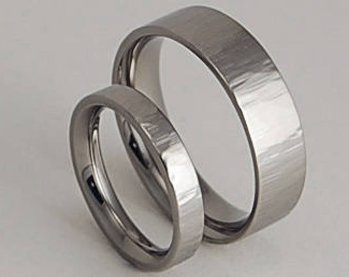 Aphrodite and Apollo Bands with Comfort Fit Interiors , Wedding Bands , Titanium Rings , Promise Rings
