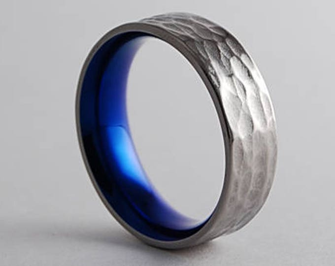 Apollo Band with Comfort Fit Interior , Titanium Ring , Mens Wedding Band , Mens Wedding Ring , Titanium Wedding Band , Promise Ring