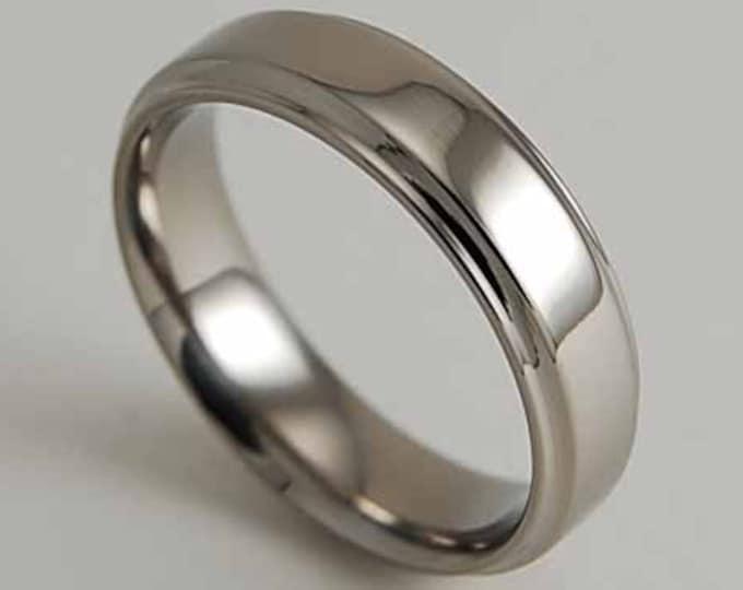 Neptune with Comfort Fit Interior , Wedding Band , Titanium Ring , Promise Ring