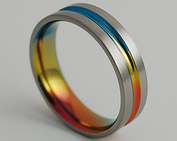 Dionysus Band with a Comfort Fit Interior , Titanium Ring , Wedding Band , Promise Ring