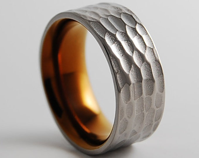 Apollo Band with Comfort Fit Interior , Titanium Ring , Wedding Band , Promise Ring