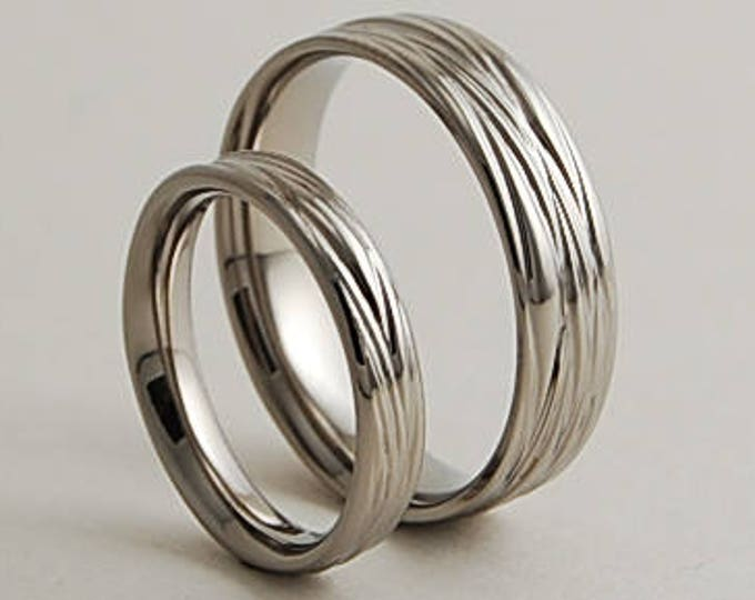 Sphinx Bands with Comfort Fit Interiors , Wedding Bands , Titanium Rings , Promise Rings
