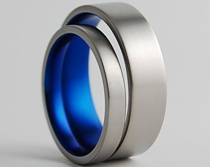 Aphrodite and Apollo Bands , Titanium Rings , Wedding Bands , Promise Rings