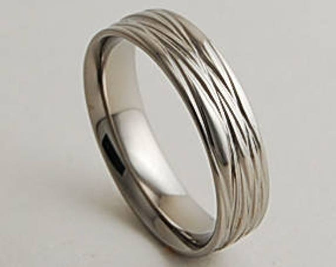 Sphinx Band with Comfort Fit Interior , Mens Wedding Band , Titanium Ring
