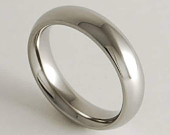 Olympia Band with Comfort Fit Interior , Titanium Ring , Wedding Band , Promise Ring