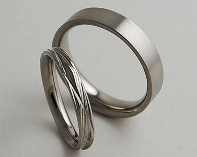 Sphinx and Apollo Bands , Wedding Bands , Titanium Rings , Promise Rings