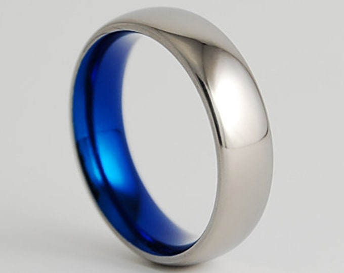 Olympia Band with Comfort Fit Interior , Titanium Ring , Mens Wedding Band, Promise Ring