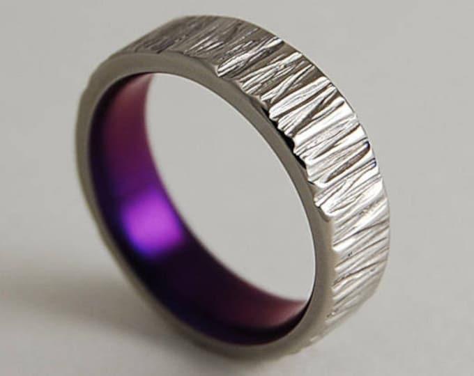 Jupiter Band in Mystic Purple , Titanium Ring , Wedding Band ,  Promise Ring