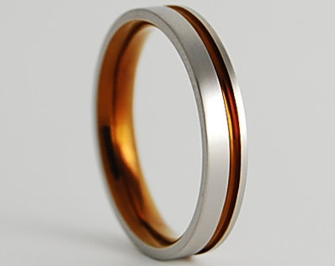 Cosmos Band with Comfort fit Interior , Titanium Ring , Wedding Band