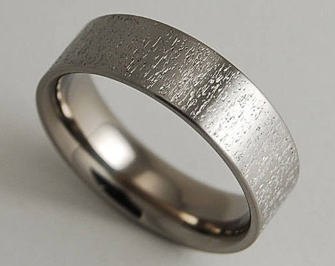 Acropolis Band with Comfort Fit , Wedding Band , Titanium Ring , Promise Ring