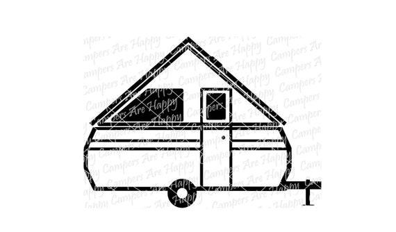 A-Frame Pop Up Camper SVG DXF PNG pdf jpeg files A-Frame | Etsy