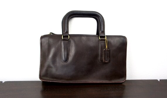 Vintage Mahogany Brown Coach Leather Briefcase Sty
