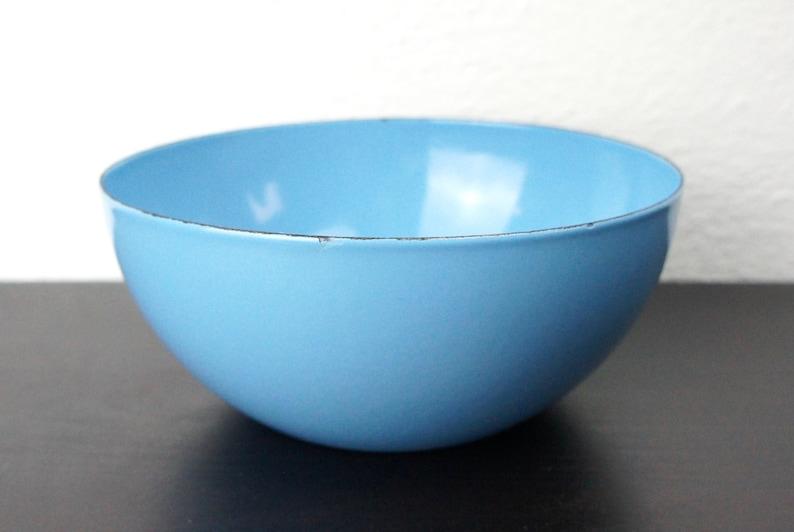 Wartsila Vintage Finel 6,26 pouces émaillé bol en acier, Turquoise, bleu moyen Kaj Franck scandinave Servingware 220015