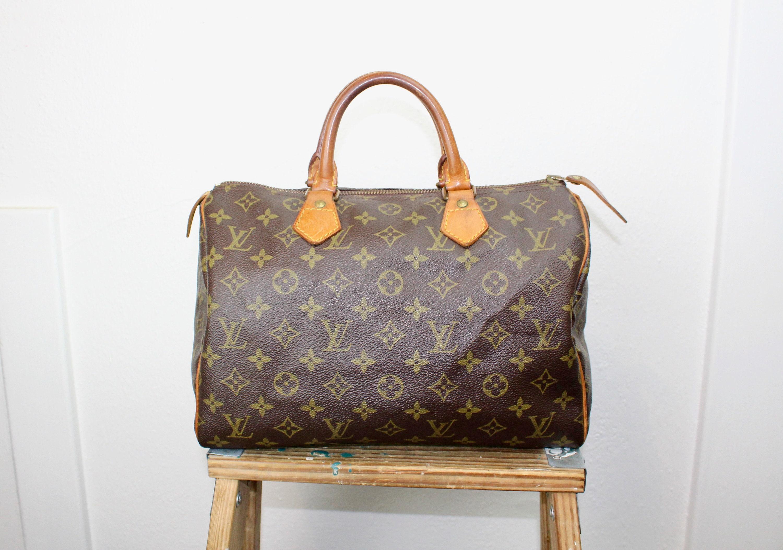 03c5917db6a8c Jahrgang Louis Vuitton Speedy Tasche Größe 30 Mittel braun