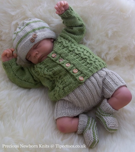 Instant Download Pdf Knitting Pattern Baby Boys Amp Girls Outfit
