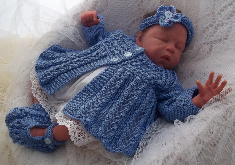Baby Knitting Pattern - Download Knitting Pattern - Baby Girls PDF ...