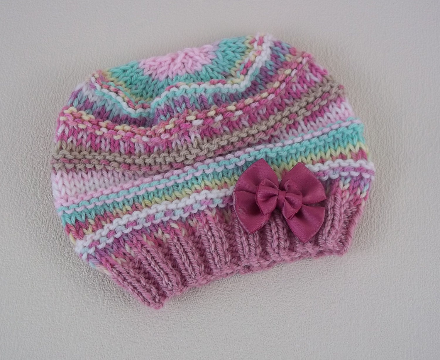 Baby Knitting Patterns- Easy Knit Baby Hat - Download PDF Knitting ...