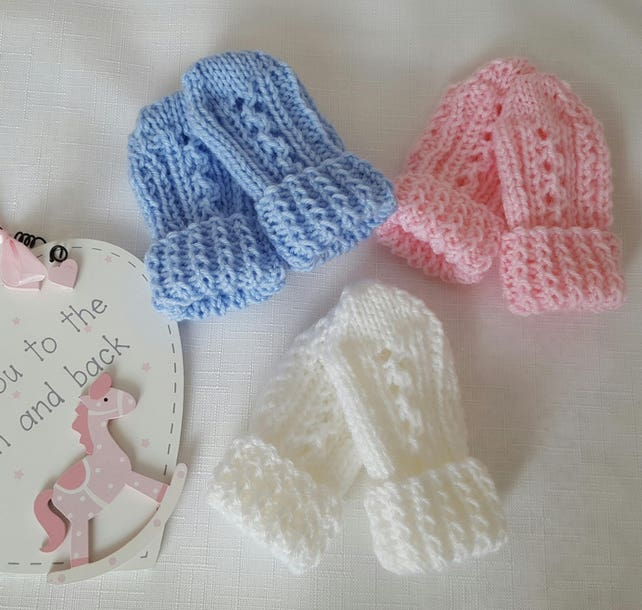 Baby Knitting Pattern Thumbless Mittens Baby Mitten Etsy