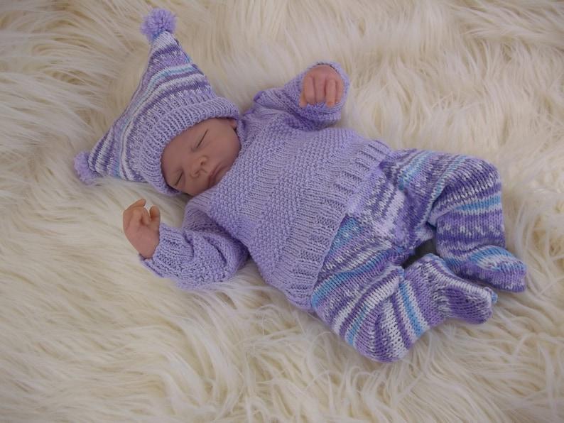 Instant download pdf knitting pattern for girls /& boys sweater set Baby Knitting Pattern Gender neutral design Ideal for reborn dolls