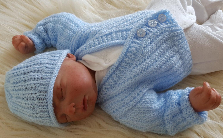 5803976b24de Baby Knitting Pattern Boys or Reborn Dolls Sweater Set