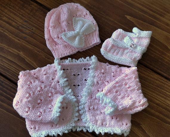 Baby Knitting Pattern Girls Download Pdf Pattern Pdf Etsy