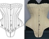 REF S PDF digital pattern and pictures for hourglass Antique gusset corset 23.60 inches waist size