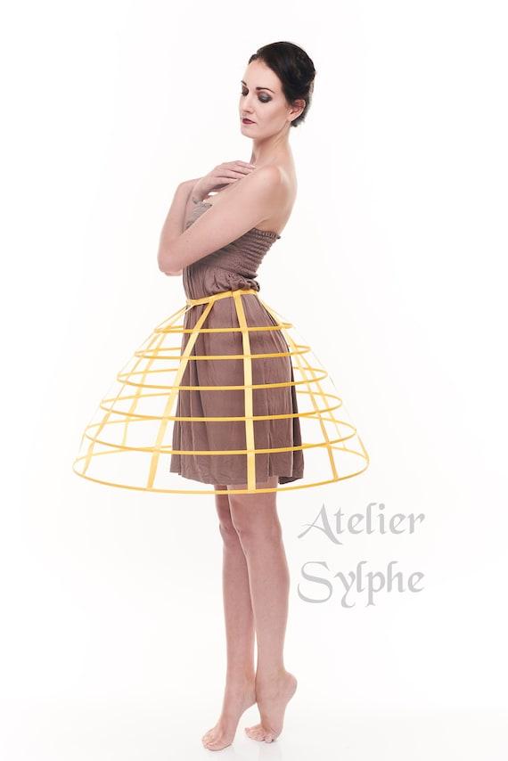 fd5b36721aecf Jupe cerceaux crinoline cage jaune ruban de satin taille   Etsy