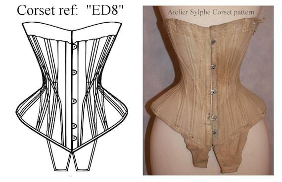 REF ED8 S Kurve Edwardian Korsett Muster entworfen von antiken | Etsy