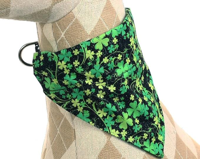 Pet Bandana - Shimmering Shamrocks - Pet Scarf - Collar Cover - St. Patrick's Day