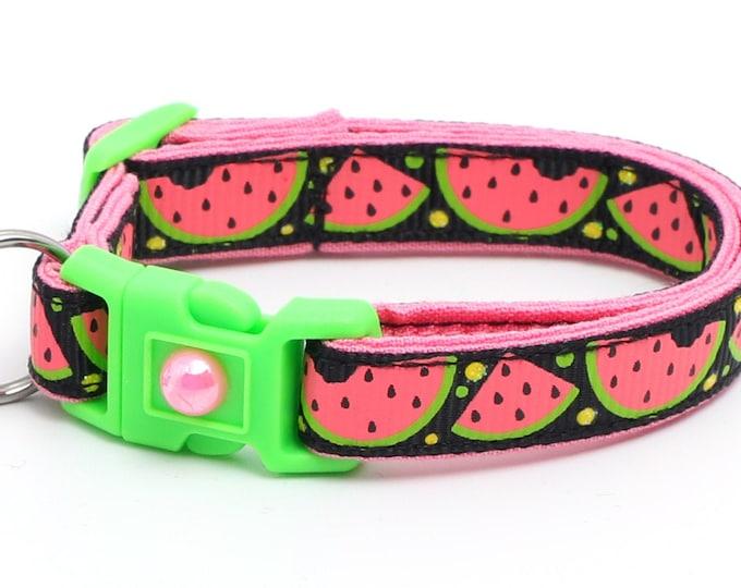 Sweet Pink Watermelon on Black B36D20