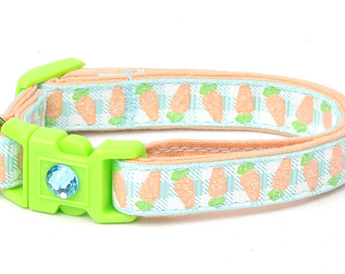 Carrots on Aqua Gingham B90D28