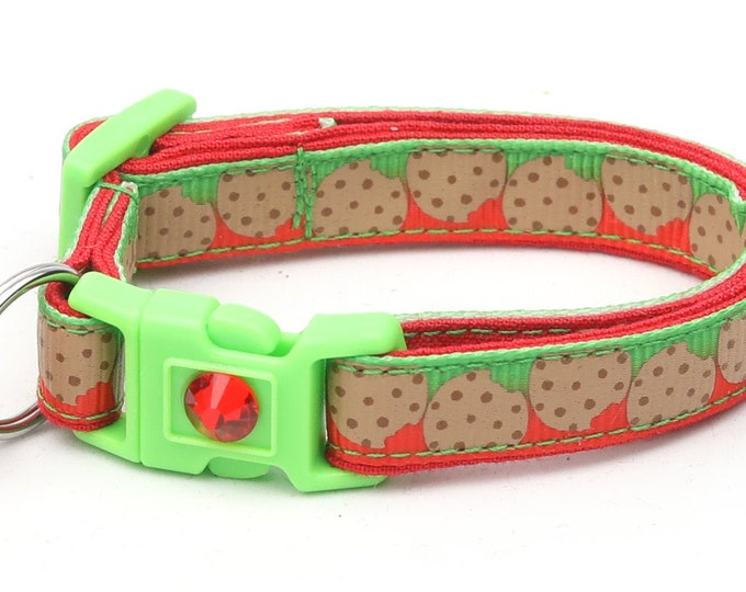 Christmas Cat Collar - Cookies for Santa - Kitten or Large Size