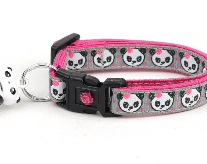 Girly Panda Bears on Silver