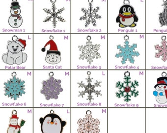 Collar Charms - Winter and Snow Charms  - Extra Charms for Cat Collars - Bling - Jewelry