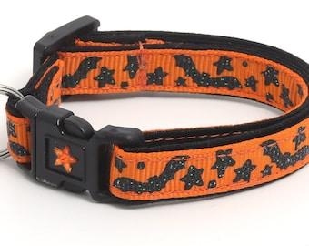Spooky Bats and Stars on Orange B55D137