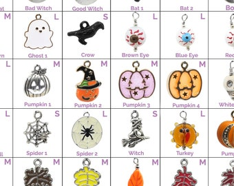 Collar Charms -  Halloween and Thanksgiving Charms  - Extra Charms for Cat Collars - Bling - Jewelry - Fall Autumn